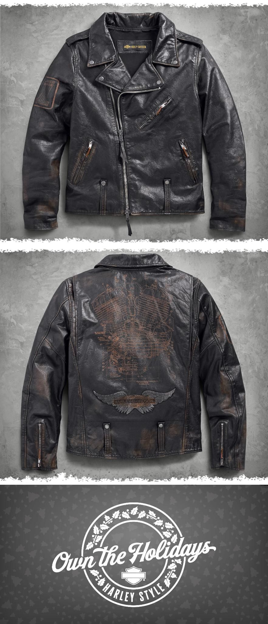 14012d5f9fc Master Distressed Slim Fit Leather Biker Jacket in 2019