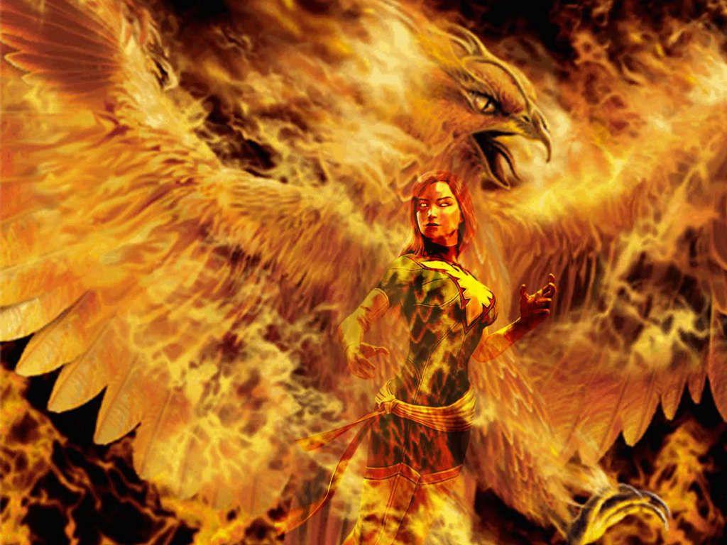 Dark Phoenix, Jean Grey, Marvel Comics, Illustration, Simple ...