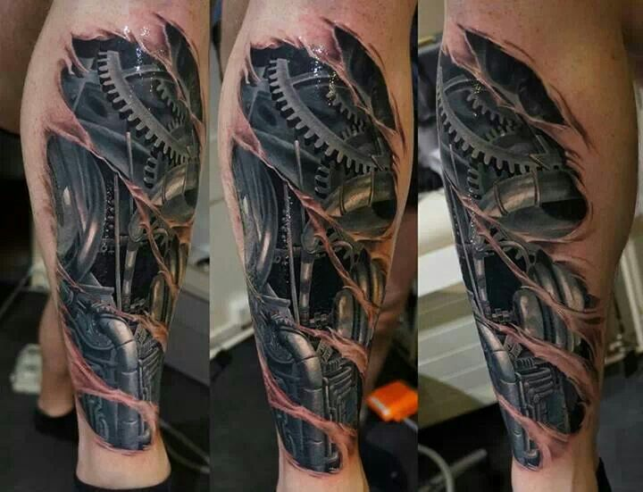 Tattoos full sleeves - Biomechanical Tattoos That Look Real Pinned By Jeff