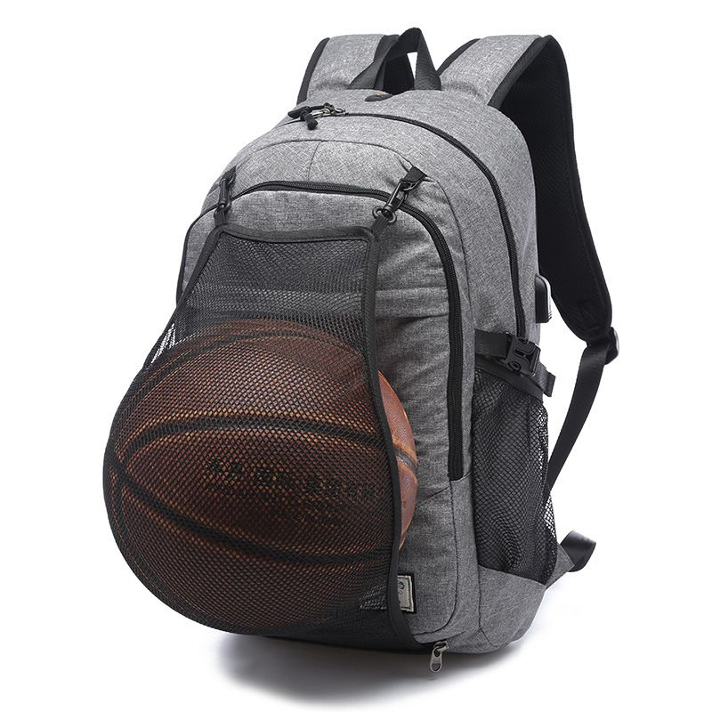 Sport Backpack Men Laptop Backpack School Bag For Teenager Boys Soccer Ball  Pack Bag Gym Bags Male With Football Basketball Net 33406b0c0e764