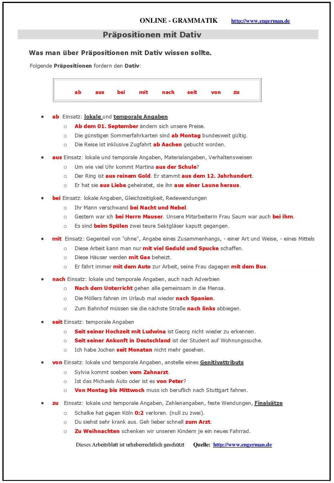 Dativ E-Mail-Beispiele