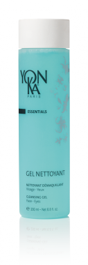 GEL NETTOYANT (CLEANSER) Enjoy a gentle cleansing of the skin with this foaming 2-in-1 azure blue gel that also removes eye and face makeup. Enriched with the properties of iris root and red seaweed, this gel has a light citrus fragrance and will leave your skin feeling refreshed and squeaky clean. It is great for all kinds of skin but is especially well-suited to those with normal, combination, and oily skin types as well as men and those with non-inflamed acne. #skincare #beauty