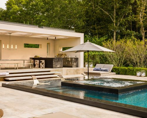 Kitchen Best Pools And Outdoor Kitchens Design Ideas Remodel ... on small garden spa, outdoor swimming pool with spa, backyard spa,