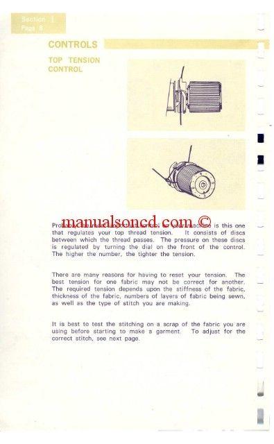 Kenmore  Sewing Machine Instruction Manual Instruction Manual