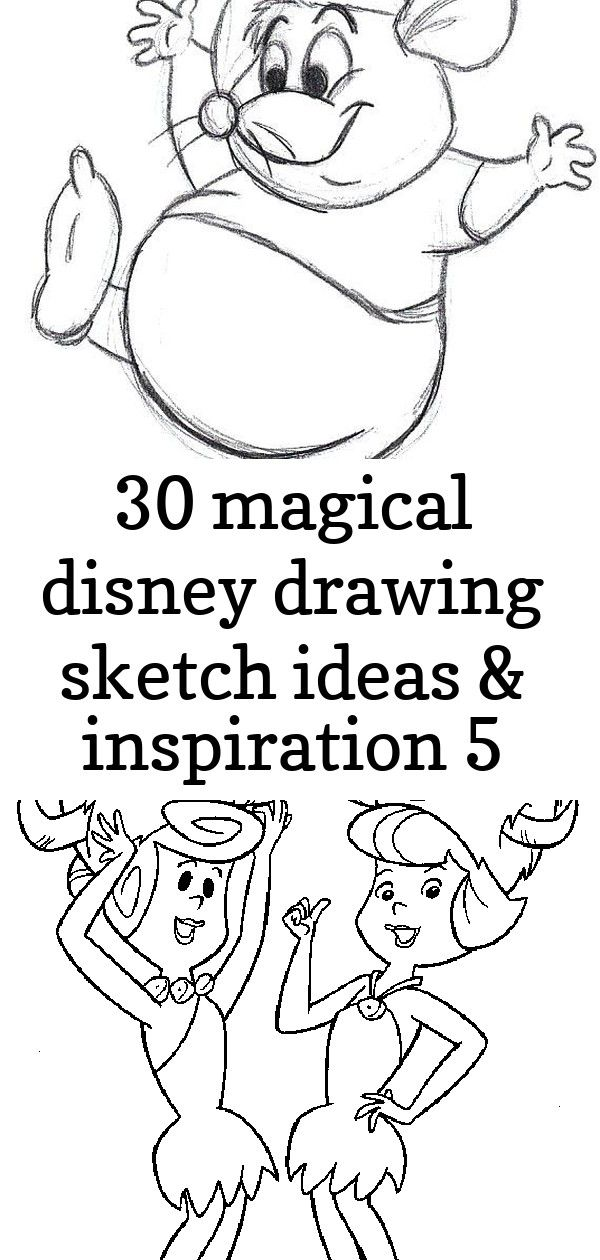 30 magical disney drawing sketch ideas  inspiration 5 30 Magical Disney drawing sketch ideas  Inspiration  Brighter Craft Flintstones color page cartoon characters colori...