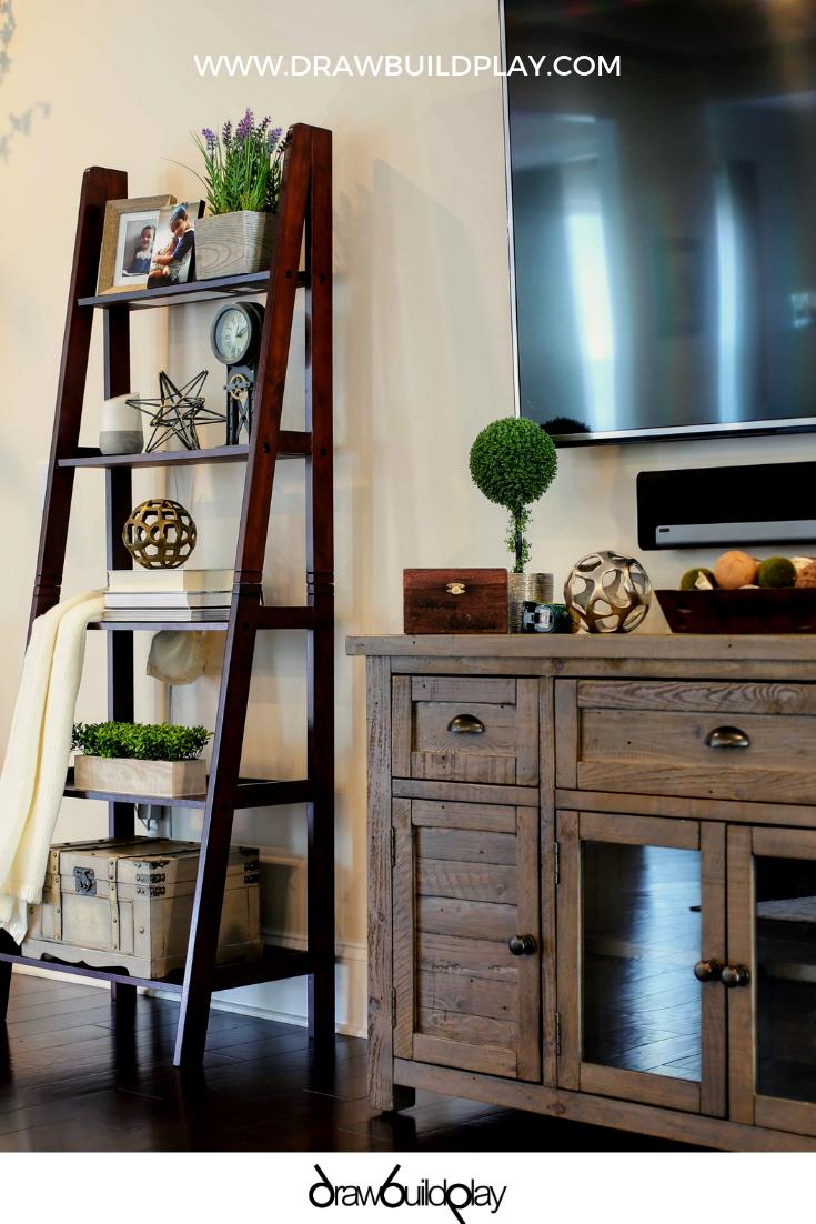 Photo of Farmhouse Ladder Shelf Decor