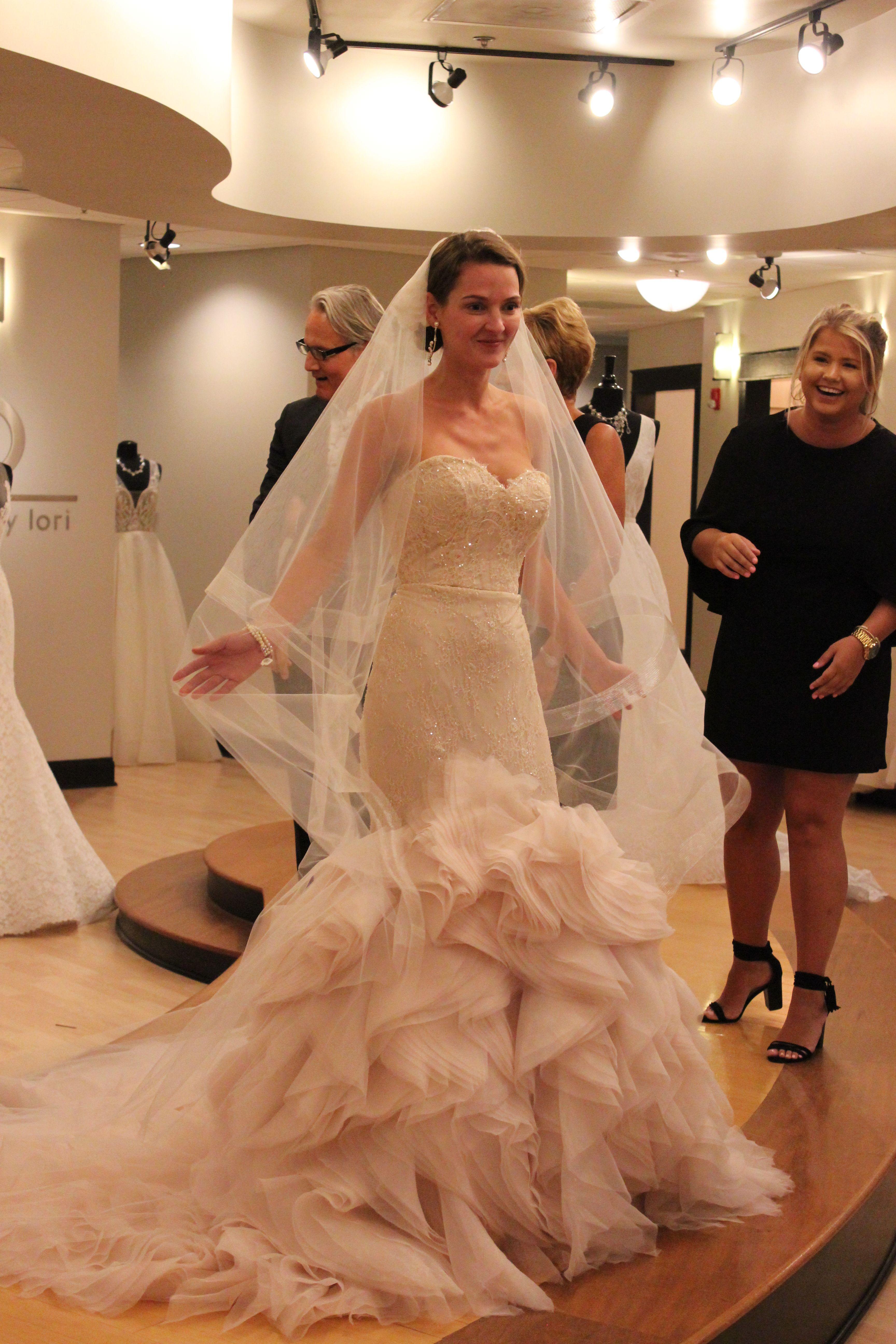 Bride Kandace Dalton Lazaro Strapless Sweetheart Neckline Mermaid Lace Bodice Tiered Lace Skirt 6 60 Bridal Gowns Dream Wedding Dresses Wedding Dresses [ 5184 x 3456 Pixel ]