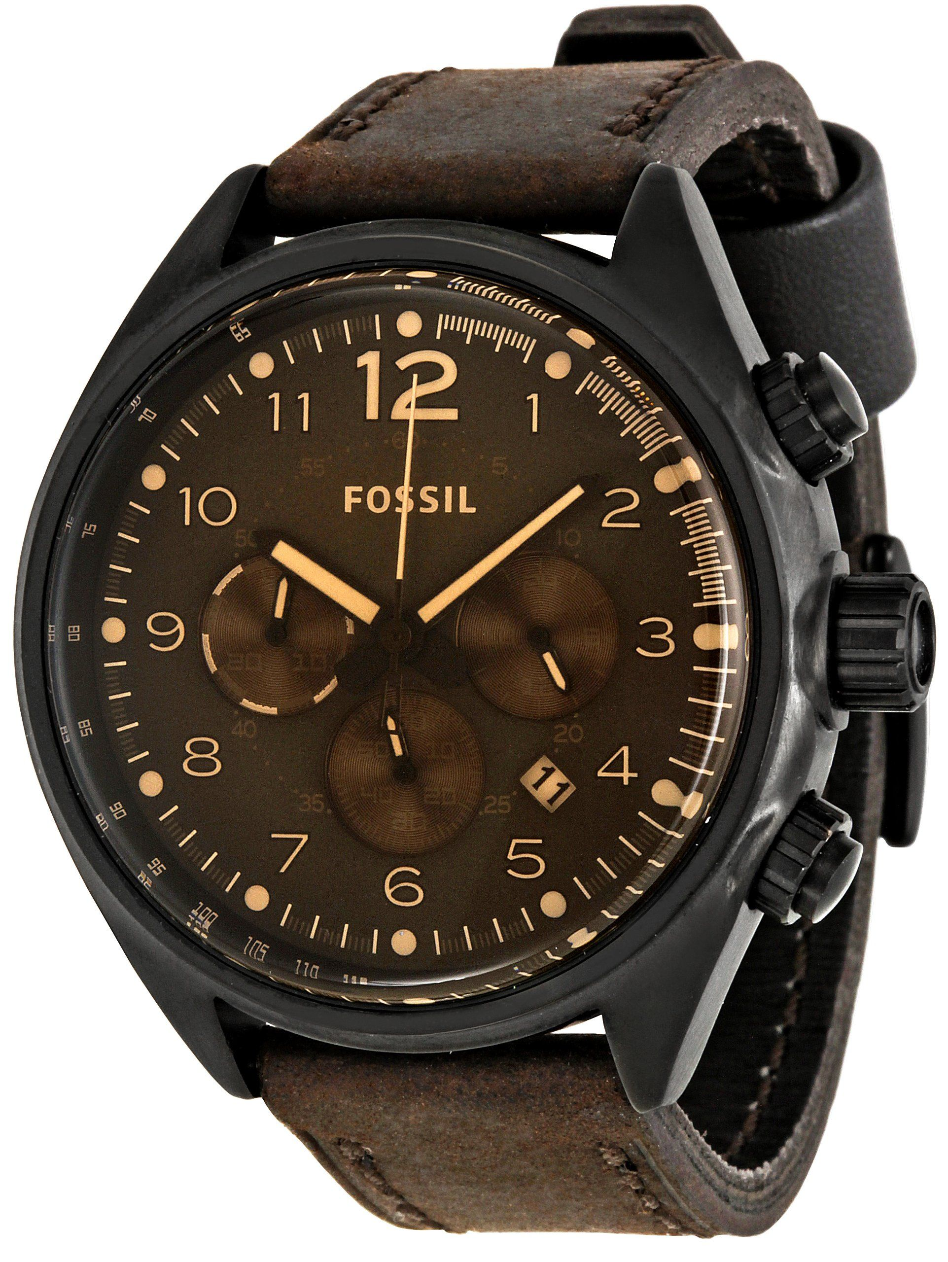092afb350 Buy Fossil Men's CH2782 Flight Brown Dial Watch and other Wrist Watches at  Amazon.com. Our wide selection is eligible for free shipping and free  returns.