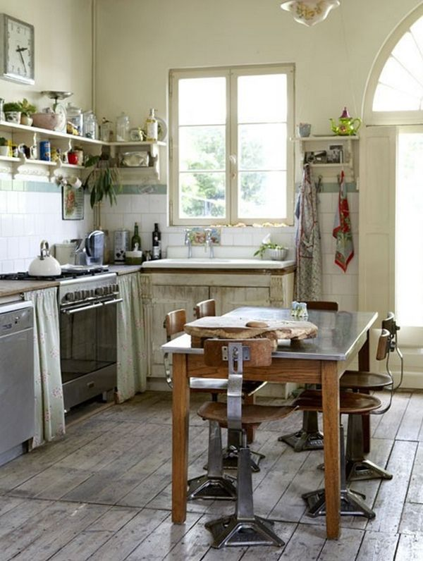 Kitchen island table with stools