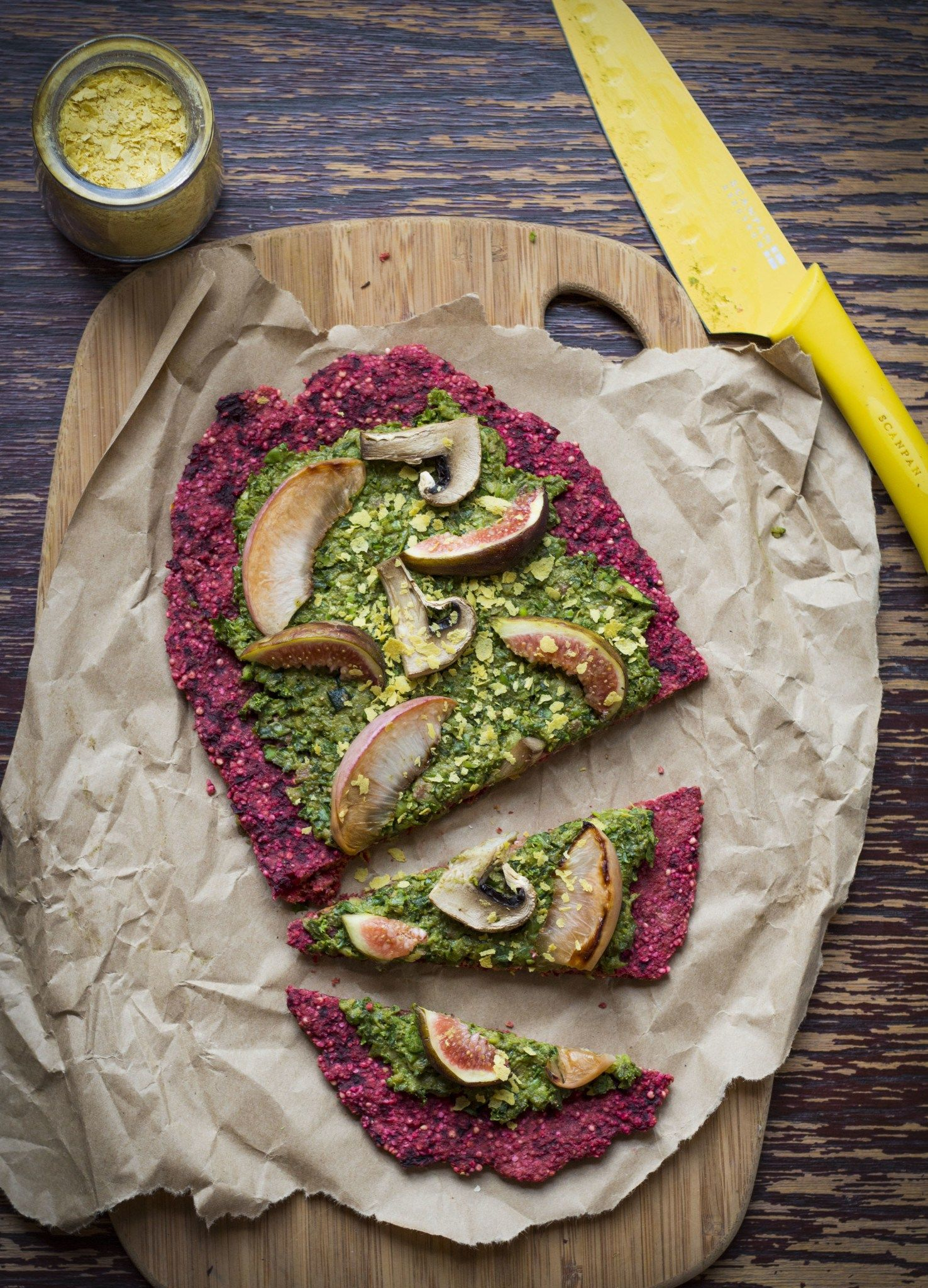 Veggie Powered Pizza With Green Pea Sauce Beetroot Pizza