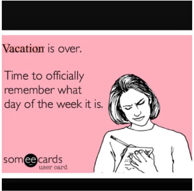 Back To Reality The Kids Are So Bummed To Go Back It Was Great We Got To Have An Entire Week Off Work Quotes Funny Back To Work Quotes Back To