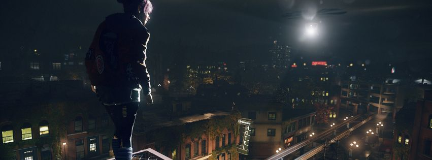 Video Game Infamous First Light Facebook Cover Facebook Cover Linkedin Background Cover