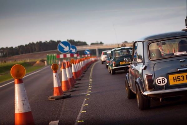Off to Stanford hall mini show. Elveden bypass roadworks