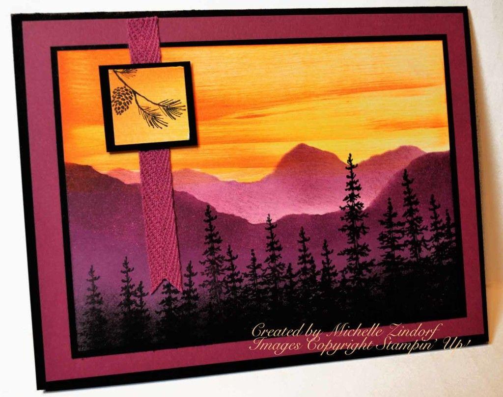 Purple Mountains – Stampin' Up! Card (zindorf.blogs ...