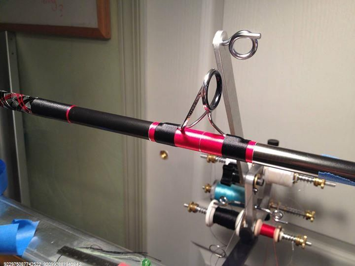 Custom rod building guide wraps fishing rods for Fishing rod building tools