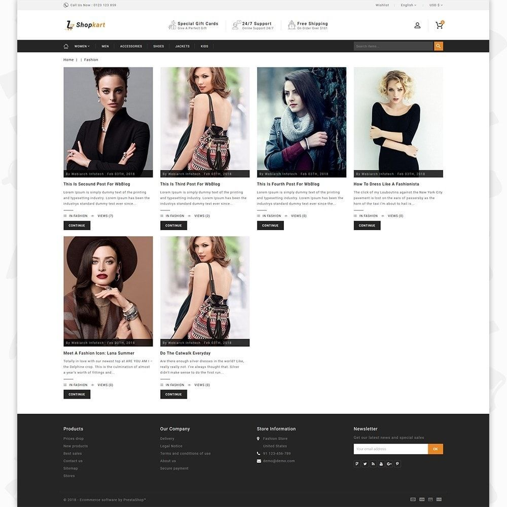Shopkart the fashion store template is a good choice for selling shopkart the fashion store template is a good choice for selling fashion maxwellsz
