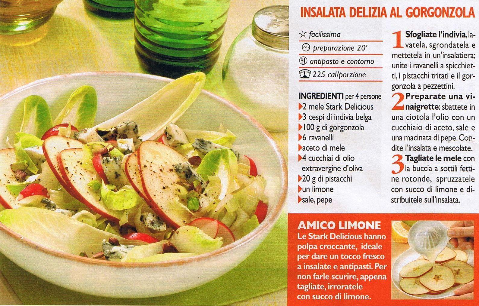 insalata delizia al gorgonzola
