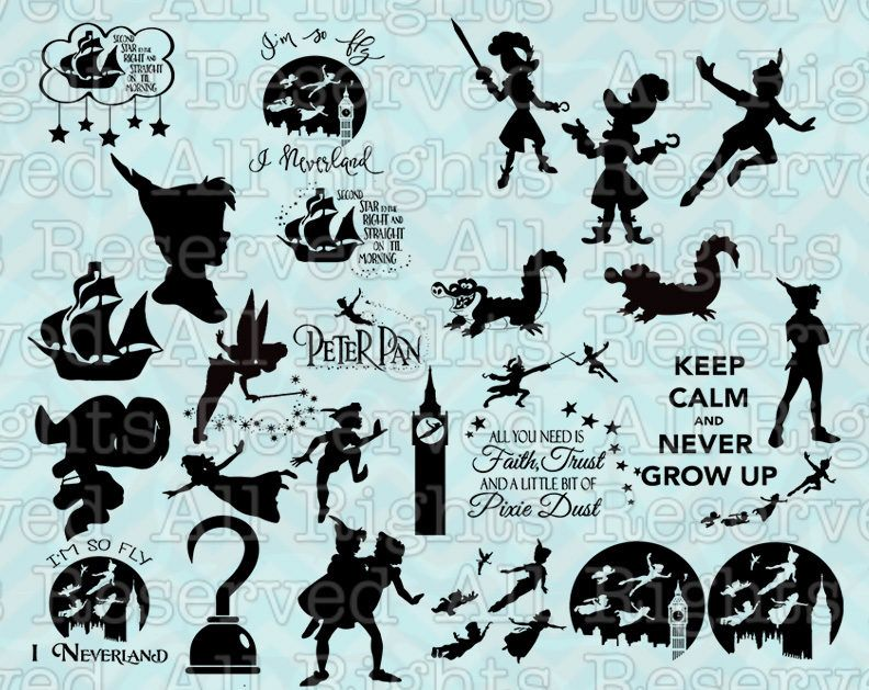 Pin by Sherry Banks on Svg | Pinterest | Peter pan silhouette ...