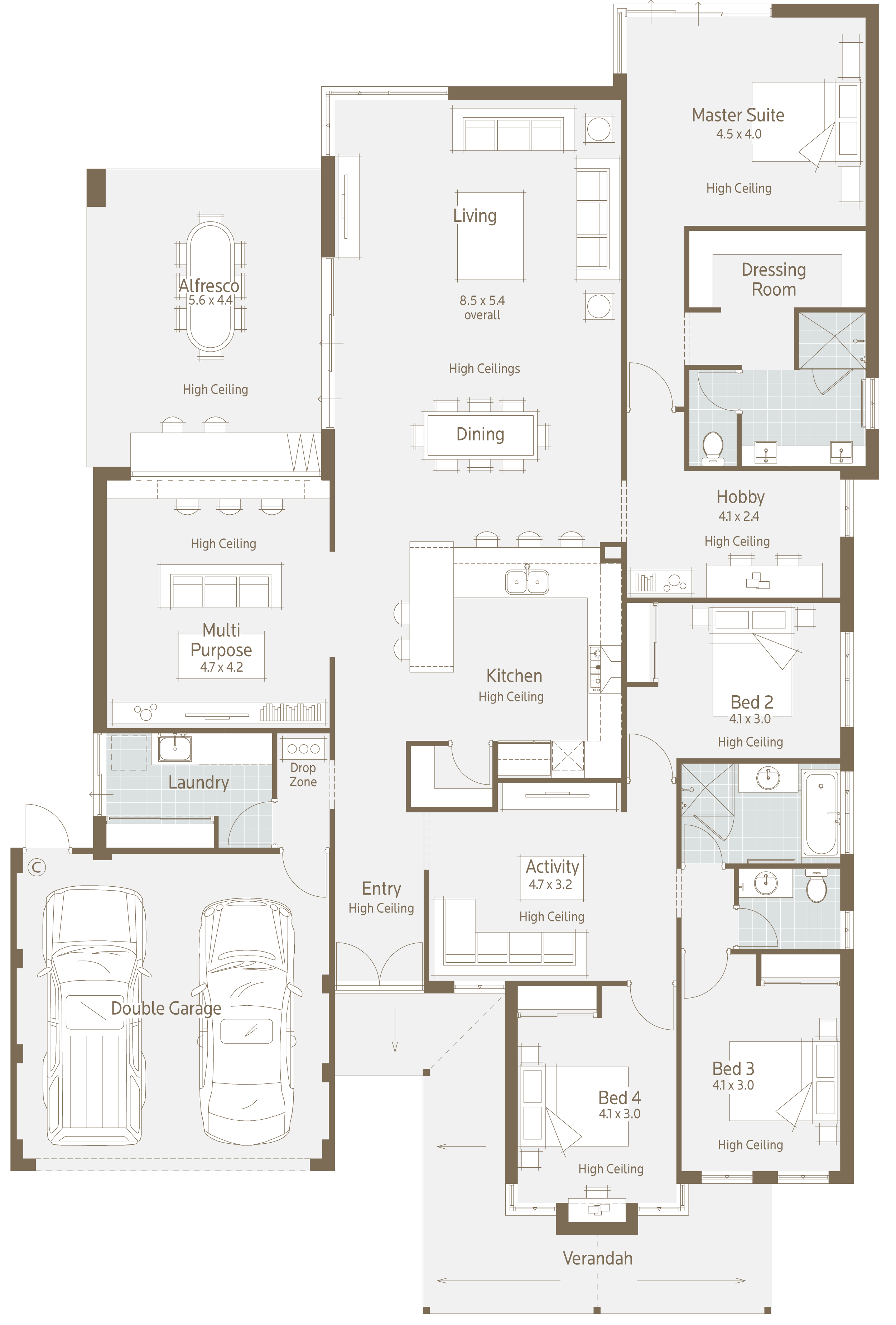 Floor Plan Friday Modern Twist On A Family Home Floor Plans House Plans House Blueprints