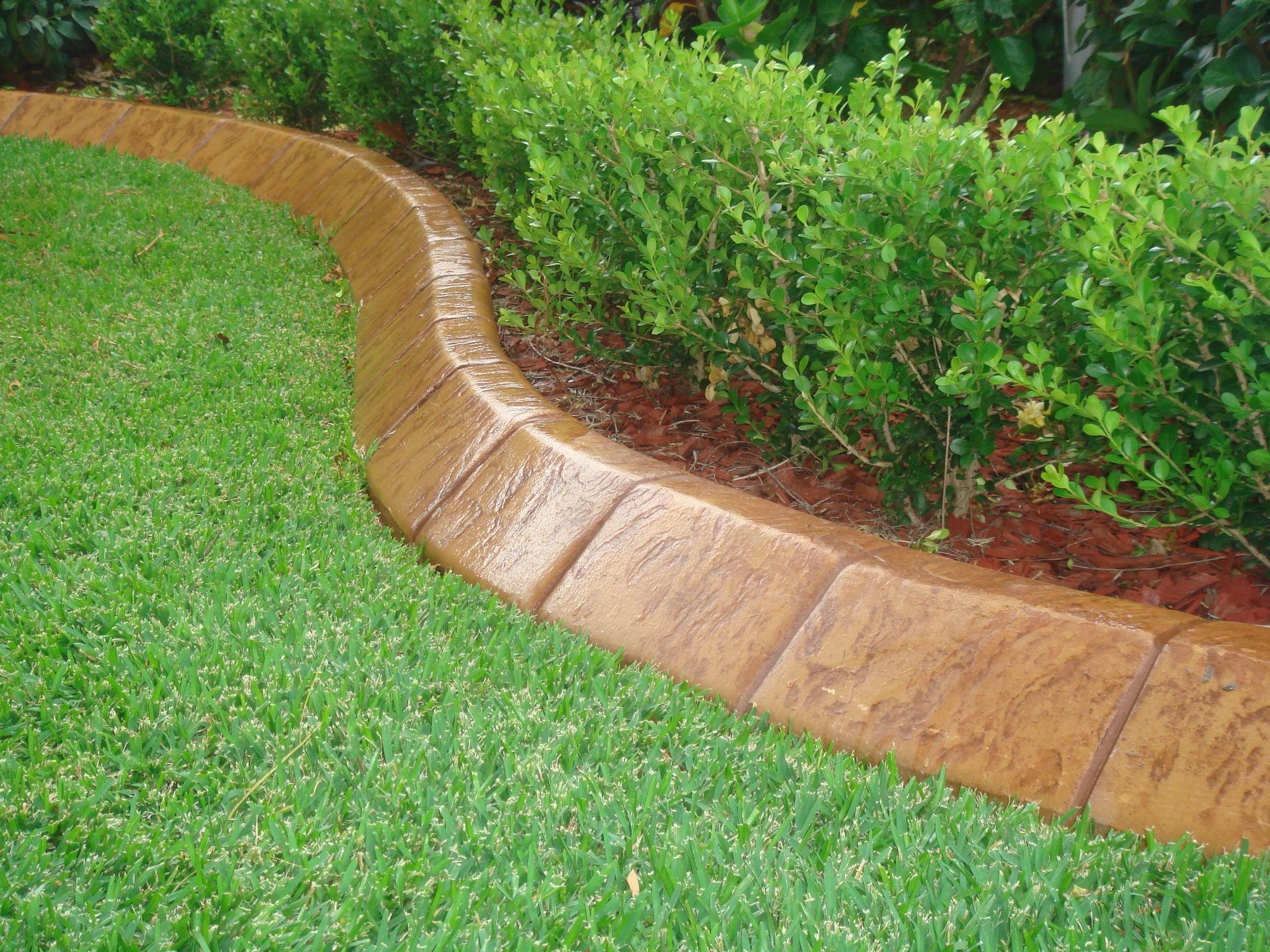 unique lawn edging material  3 concrete garden edging