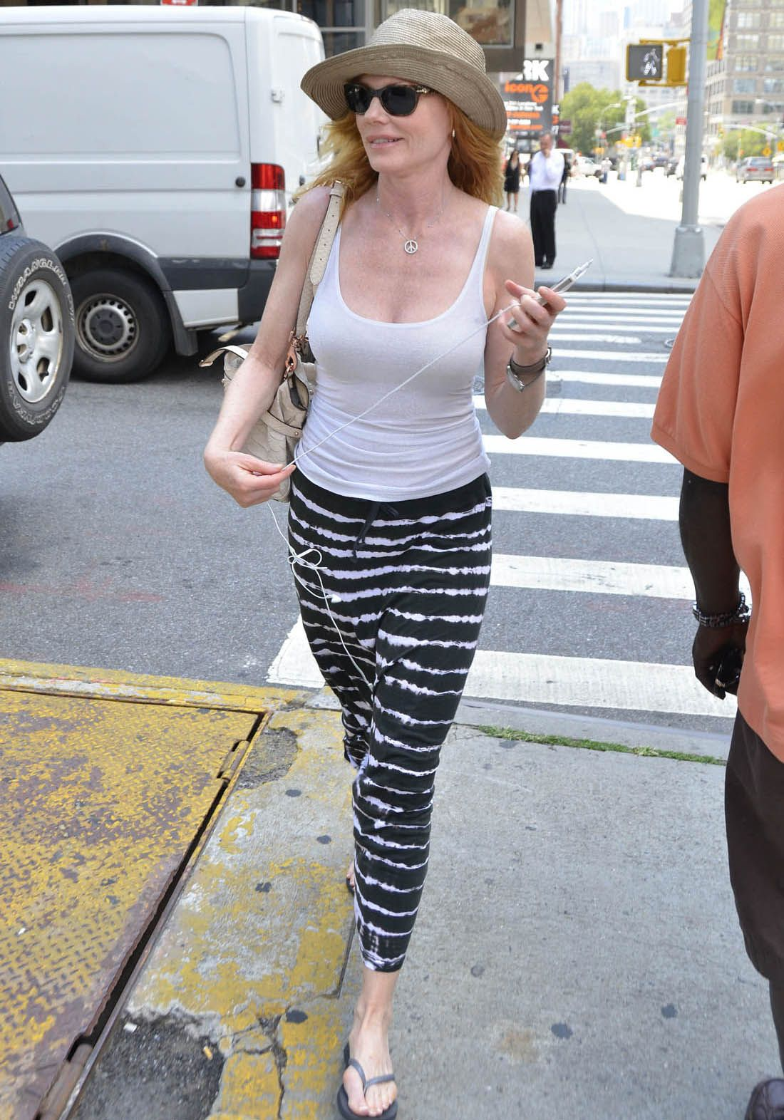 Awesome Hot Celebrities In Bikini Marg Helgenberger Fills Out A Tank Top 9 Hi Resolution Images In Gallery