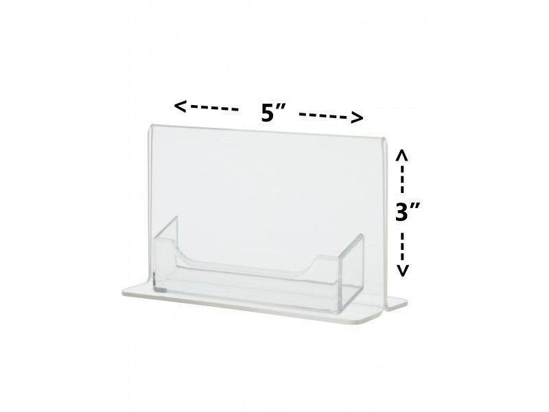 5 X 3 Clear Acrylic Photo Frame With Attached Business Card Holder Desk Top Unbrandedgeneric Card Holder Desk Acrylic Photo Frames Clear Acrylic
