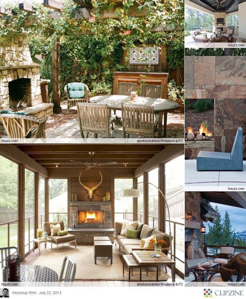 Outdoor Fireplace Ideas Outside Pinterest