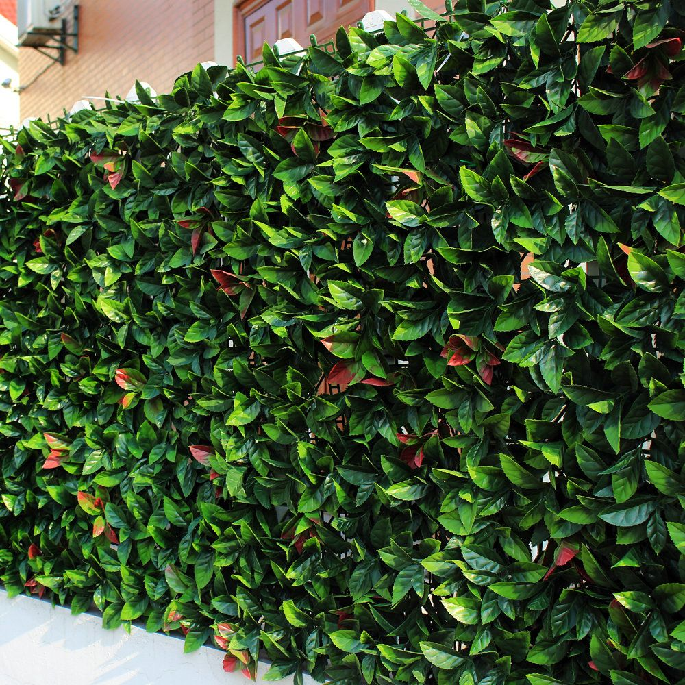 ULAND Artificial Boxwood Mats 50x50cm/pc Synthetic Laurel Leaves ...