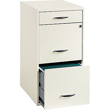 Office Designs 3 Drawer Utility File Cabinet White Staples