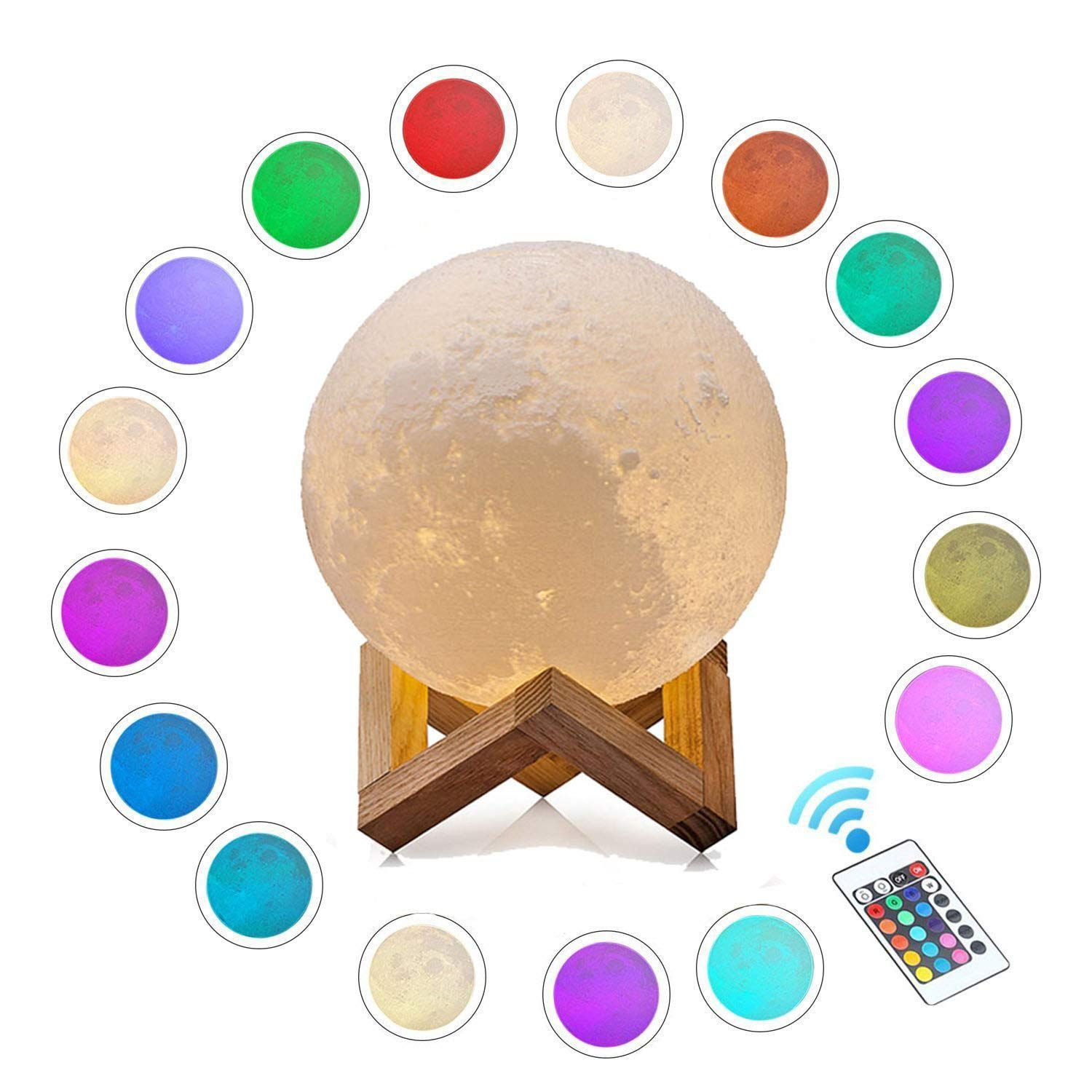 Sanwo 3d Printing Moon Lamp 16 Colors Rgb Moon Light 2018 Favorite Valentines Gifts Decorative Led Lunar Lights N Baby Night Light Night Light Lamp Night Light