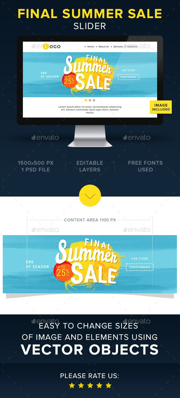 Final Summer Sale Slider Template Psd Download Here Https