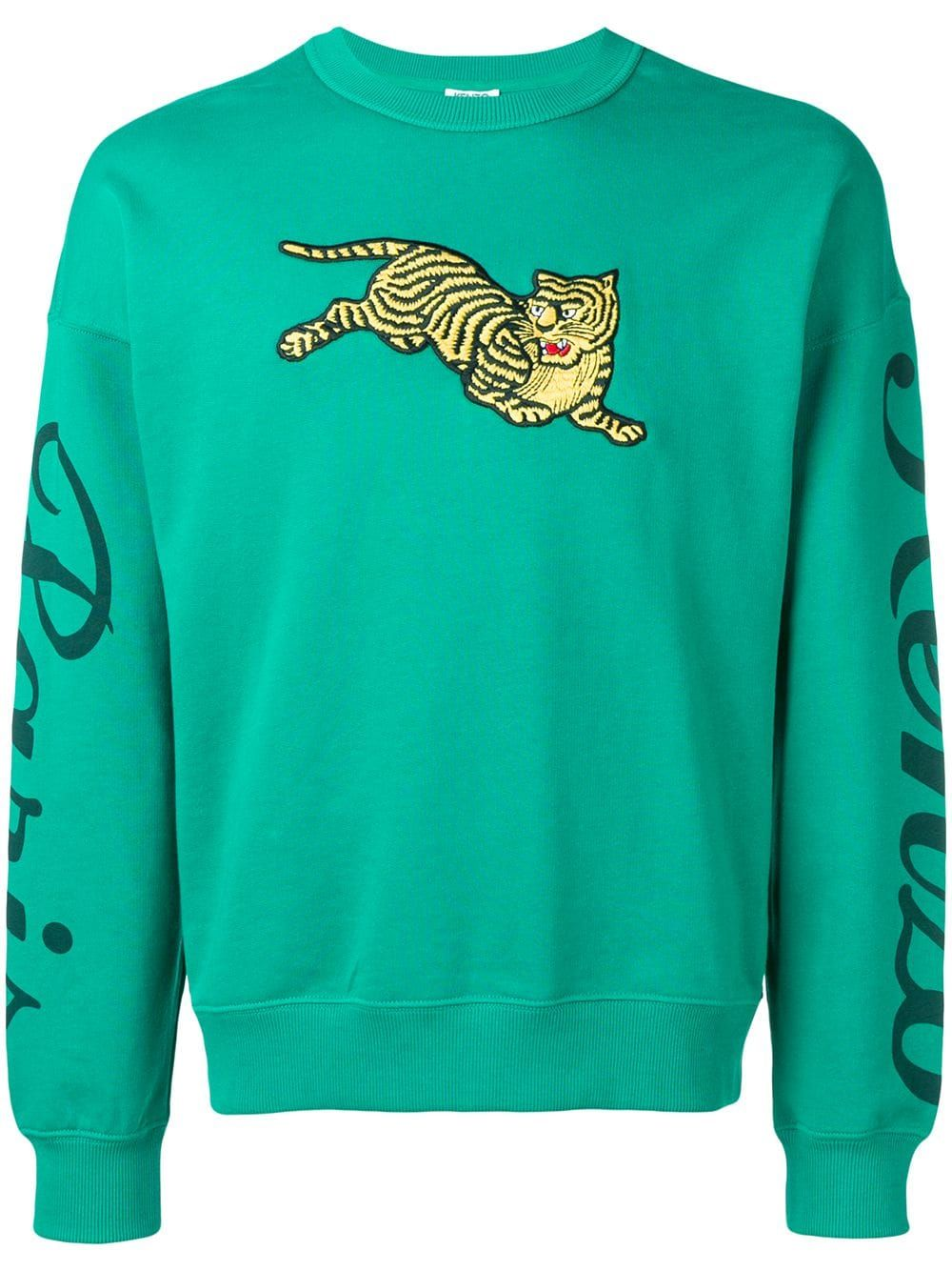 0d6e15a7 KENZO KENZO FLYING TIGER EMBROIDERED HOODIE - GREEN. #kenzo #cloth ...