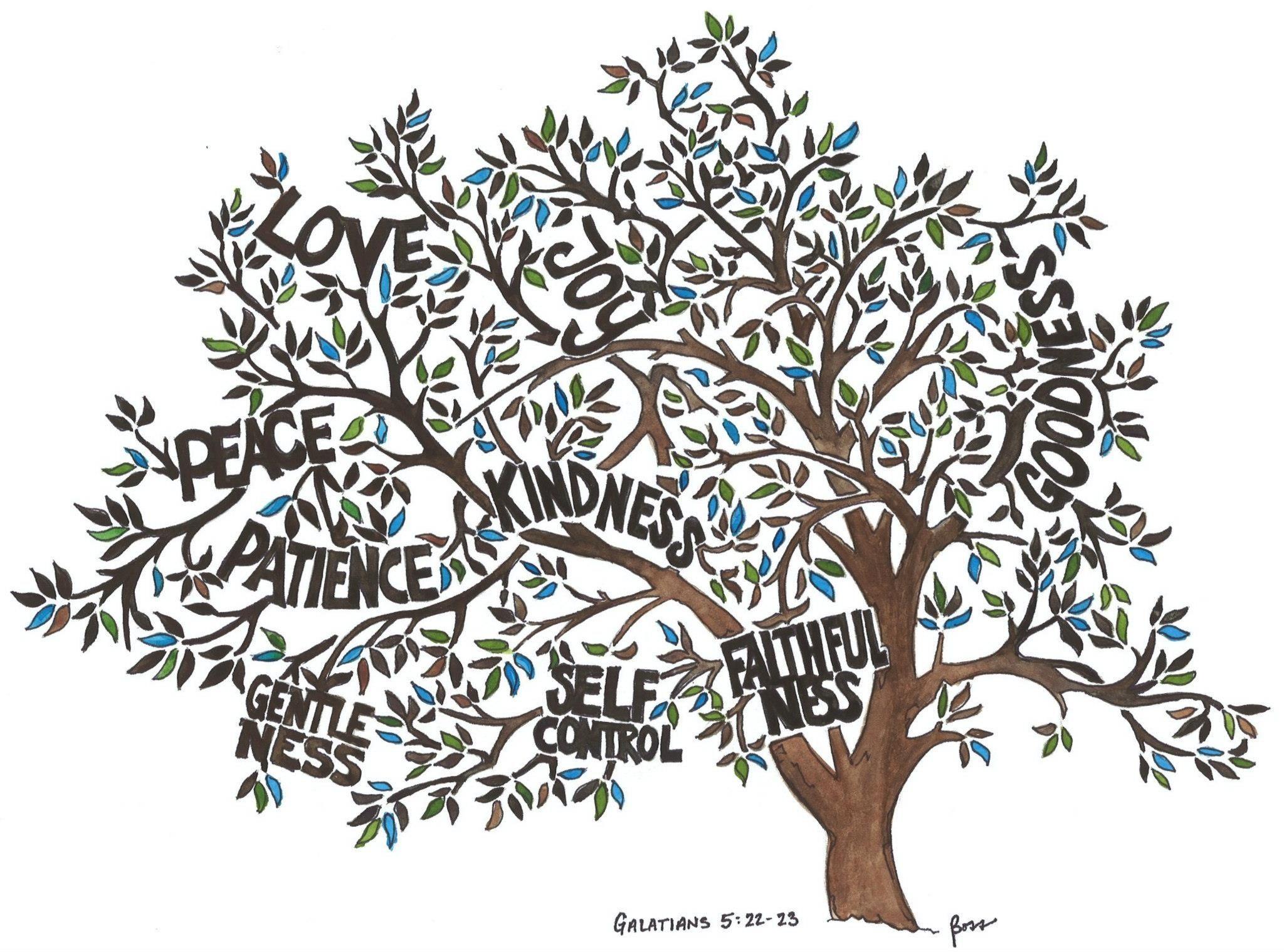 Fruit Of The Spirit Tree Bobby Boss Art