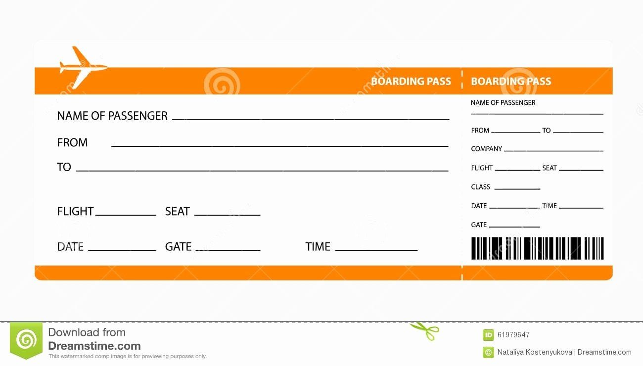 Plane Ticket Template Pdf Awesome Airplane Ticket Boarding