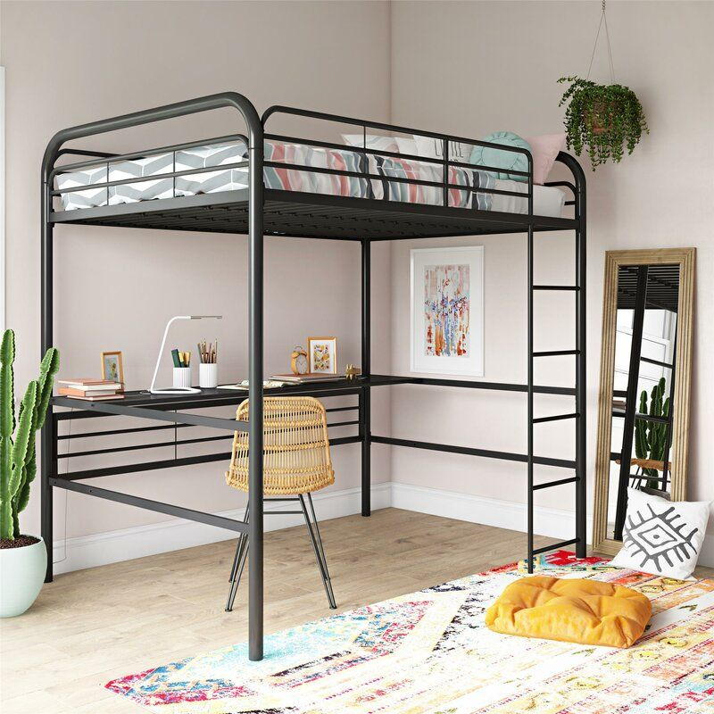 Dawson Loft Bed with Desk in 2020 Loft bed frame, Twin