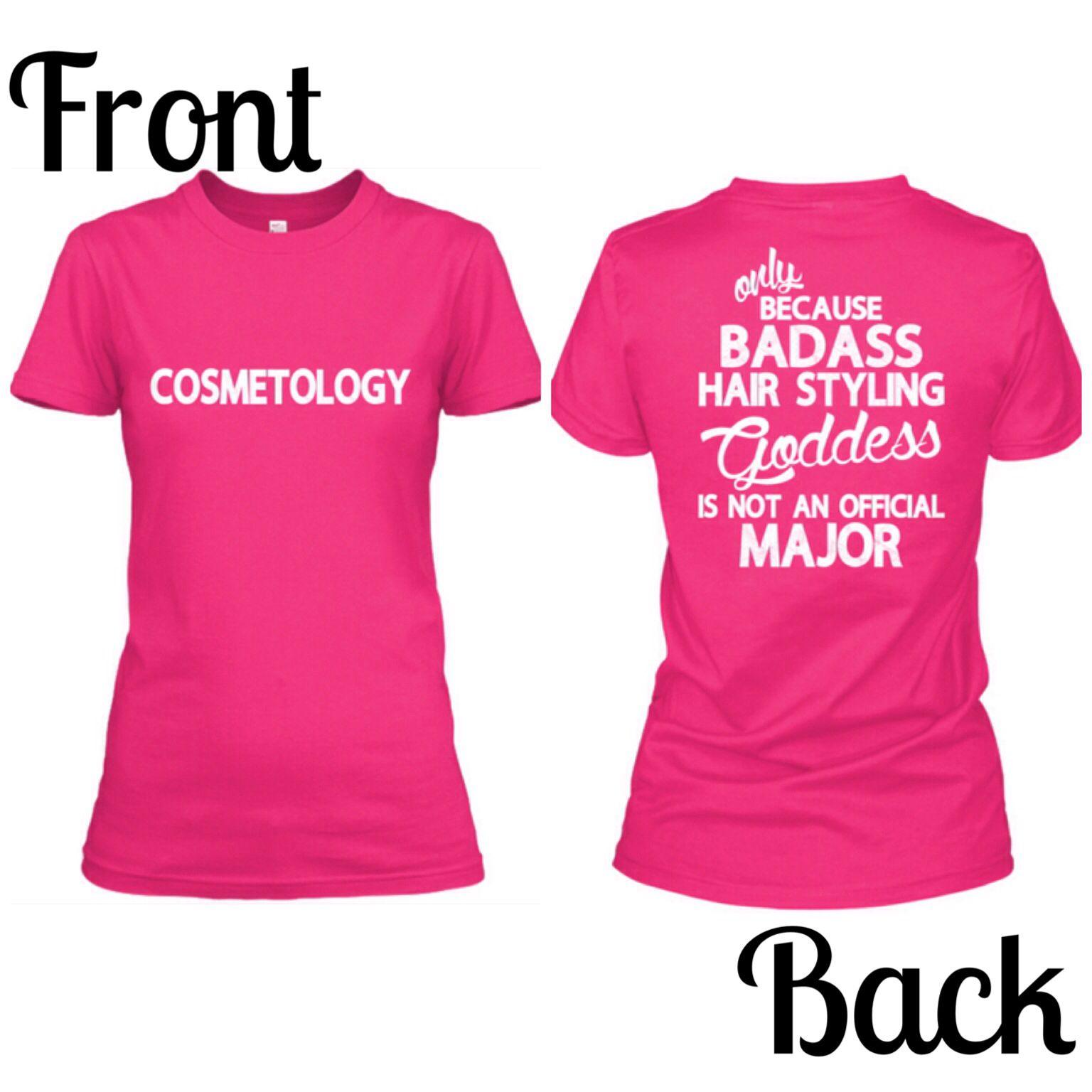 7a5fa8b1 Cosmetologist shirt :) WANT THIS | Our salon | Hair shop, Salon wear ...