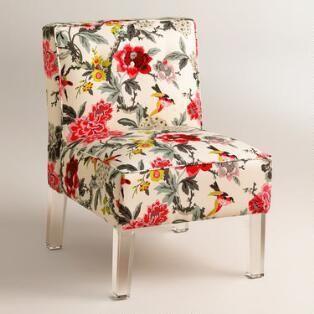 Randen Chair in Warm-Toned Prints