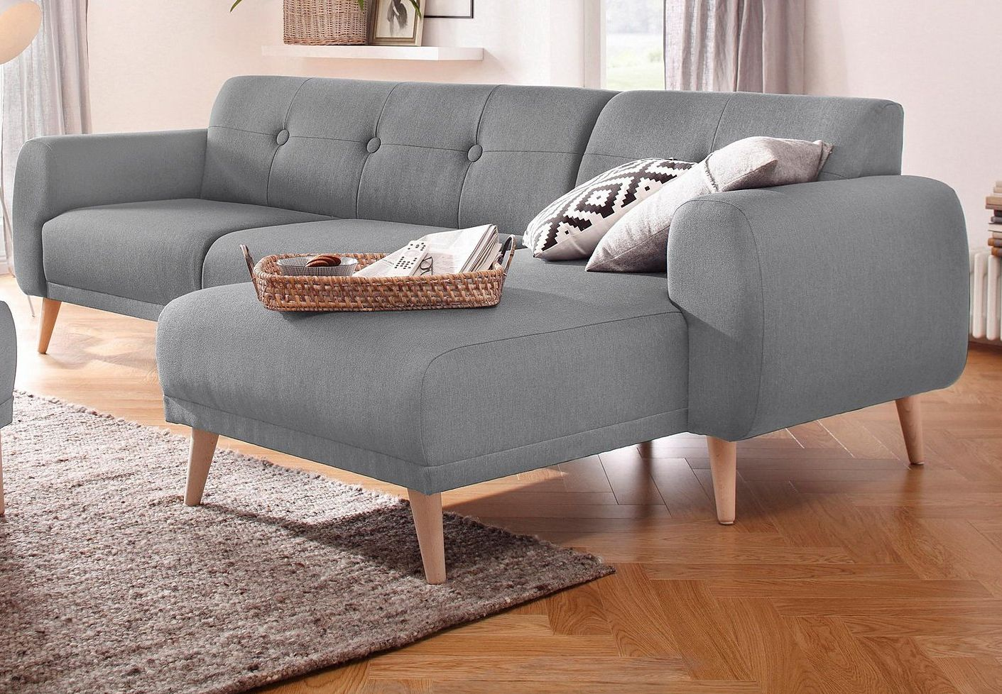 Home Affaire Ecksofa Rice Incl Hocker Mit Federkern Otto Möbel Ecksofas Ecksofa