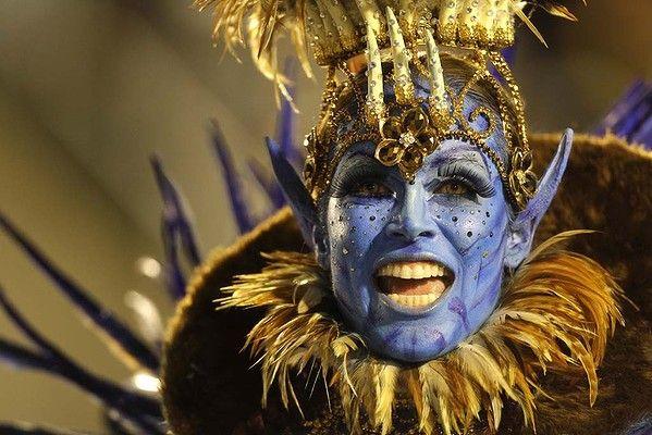 carnival rio | ... its climax as samba schools parade at Rio de Janeiro's Sambadrome