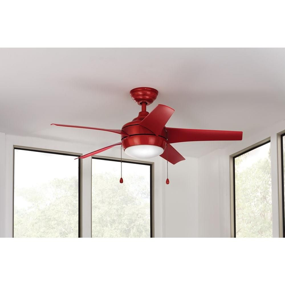 Home decorators collection windward 44 in indoor red ceiling fan hampton bay 44in windward red ceiling fan with bowl light and pull chains a perfect pop of color for any roomld at homedepot aloadofball Gallery