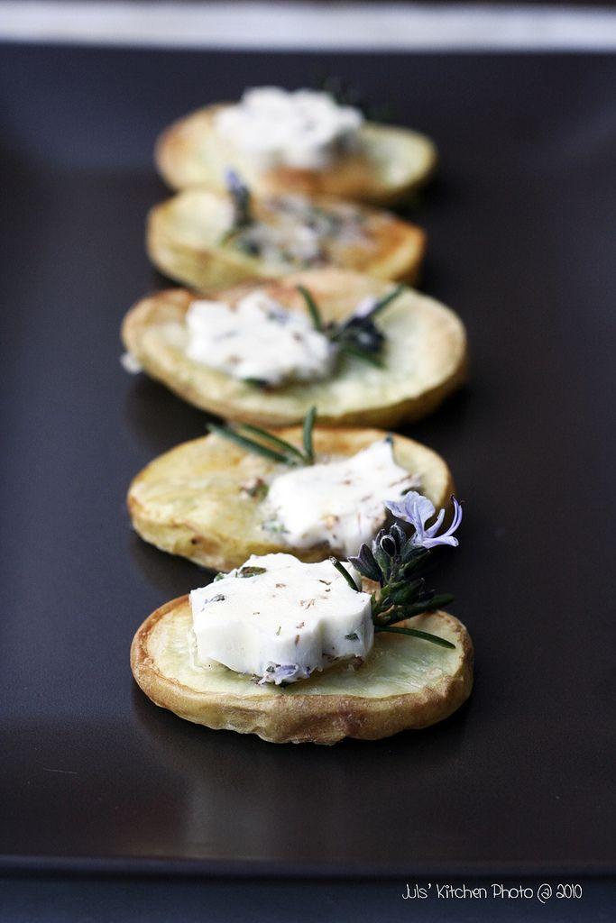 Patate con burro salato aromatizzato