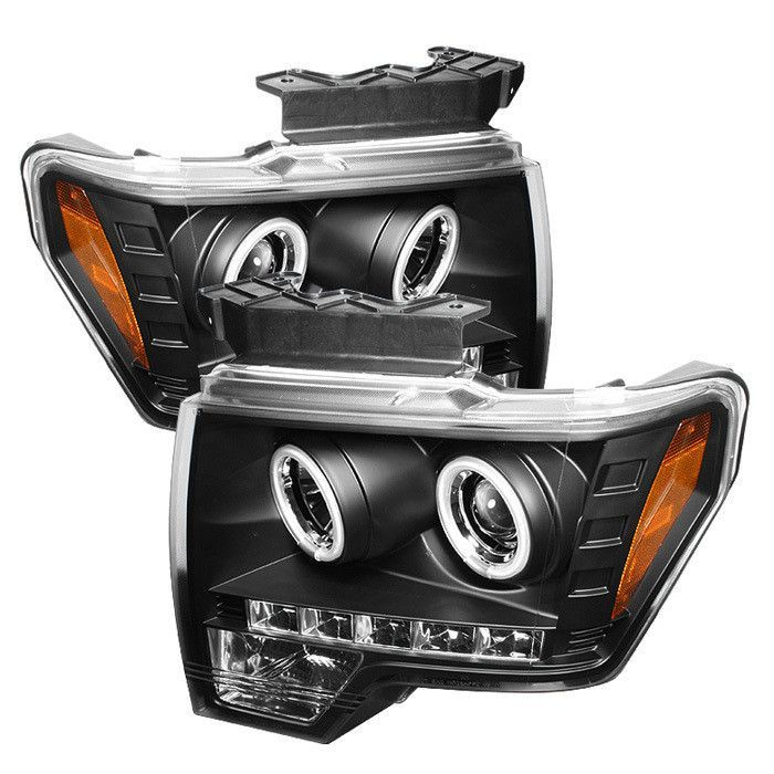 Spyder Ford F150 09 14 Projector Headlights Halogen Model Only Not Compatible With Xenon Hid Model Ccfl Halo Led R Ford F150 F150 Custom Trucks