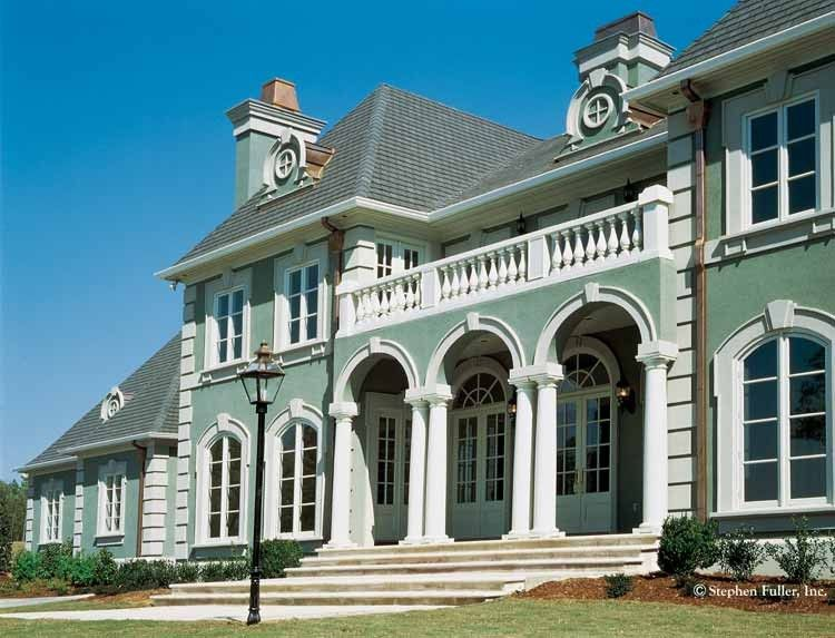 eplans neoclassical house plan estate 5130 square