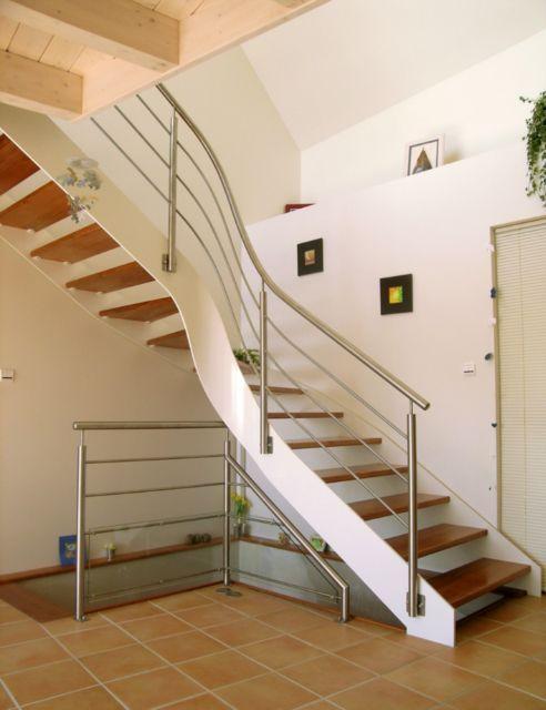 escalier 1 4 tournant double limon finition laqu e marches en escaliers pinterest. Black Bedroom Furniture Sets. Home Design Ideas