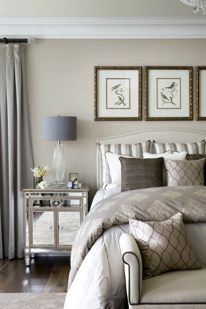 La meilleur décoration de la chambre couleur taupe! | Decoration