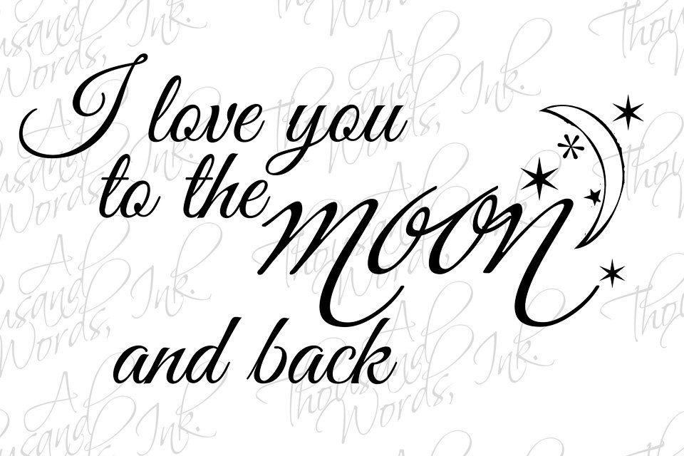 I Love You Word Art