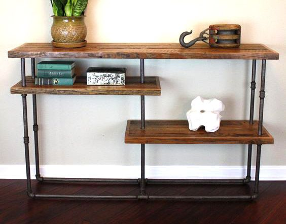 Pin On Diy With Step Daddy - Industrial Pipe Sofa Table
