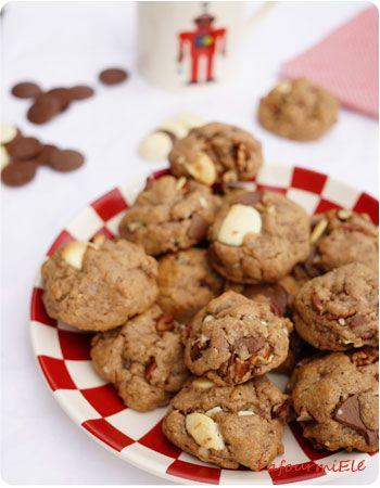 Freestyle cookies richement garnis : #épeautre, noisettes, #pécan, #nutella et plus encore