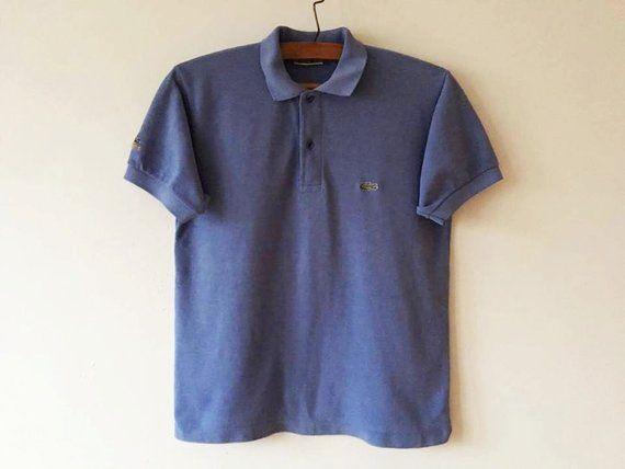 ec553160e22bb Vintage Light Blue Lacoste Polo Shirt Short Sleeve Summer Chemise ...