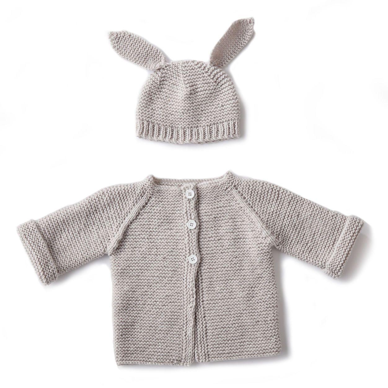 Bernat Knit Baby Jacket Set, Newborn   Free pattern   Pinterest ...